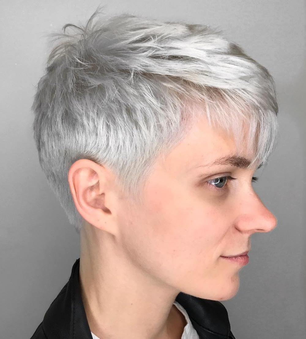 50 Images To Choose A Cool Choppy Pixie Haircut – Hair Intended For Pixie Haircuts With Tapered Sideburns (View 11 of 20)