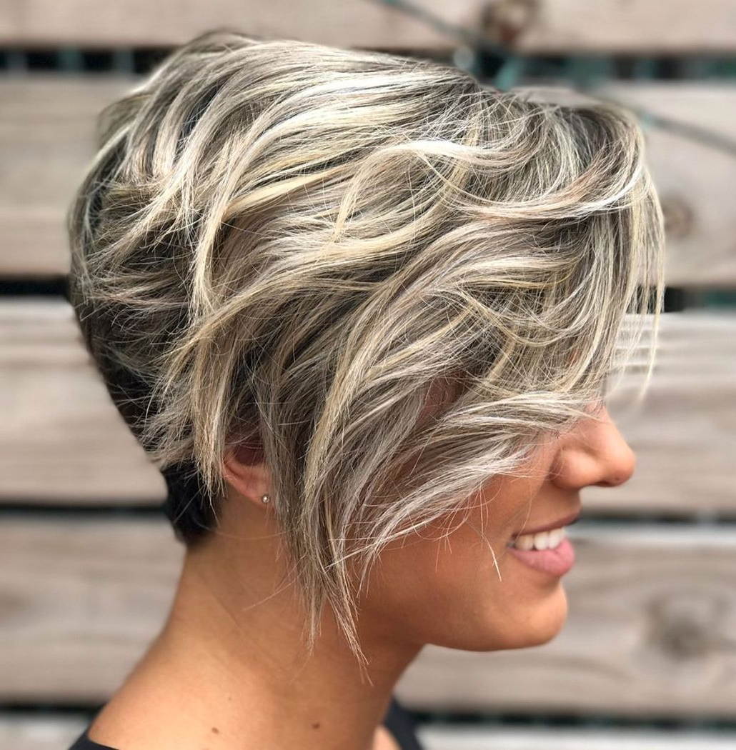 50 Images To Choose A Cool Choppy Pixie Haircut – Hair With Messy Curly Blonde Pixie Bob Haircuts (View 9 of 20)