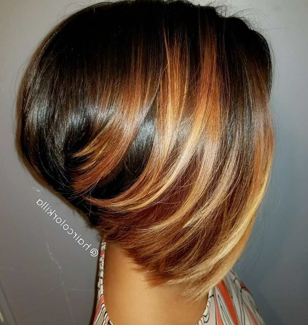 50 Impossible To Miss Bob Hairstyles For Black Women – Hair Throughout Inverted Caramel Bob Hairstyles With Wavy Layers (View 13 of 20)