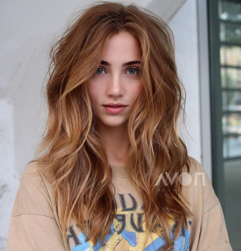 Featured Photo of Voluminous Long Caramel Hairstyles