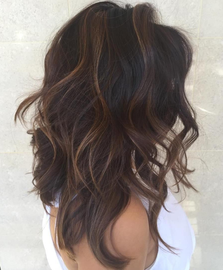 50 Lovely Long Shag Haircuts For Effortless Stylish Looks With Trendy Brunette Wavy Razored Shag Haircuts (View 7 of 20)
