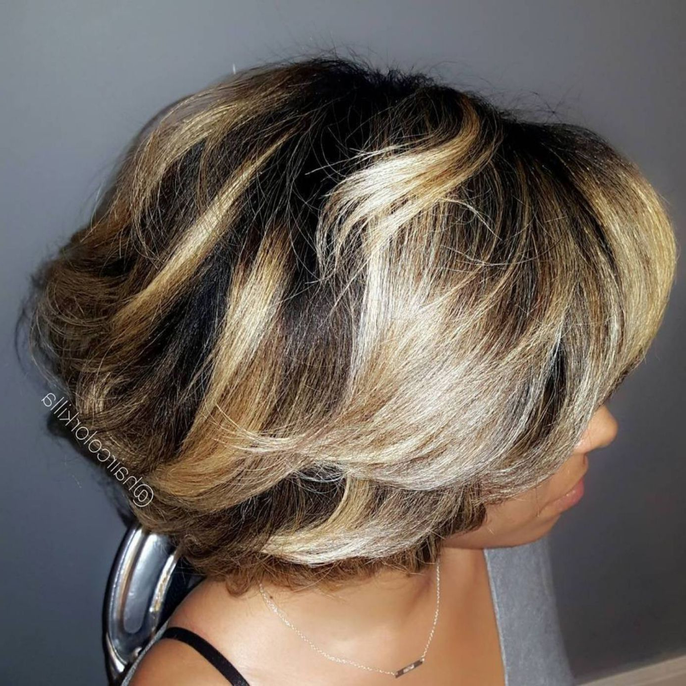 50 Most Captivating African American Short Hairstyles In Within Most Recent Bouncy Blonde Shag Haircuts (View 3 of 20)