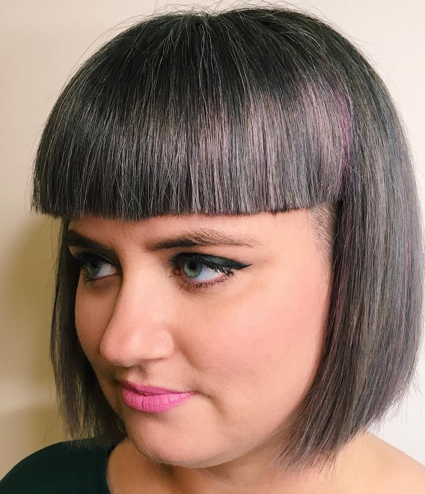 50 Most Flattering Bob Haircuts For Round Faces – Hair Pertaining To Most Current Elongated Razored Straight Shag Haircuts With Bangs (View 8 of 20)