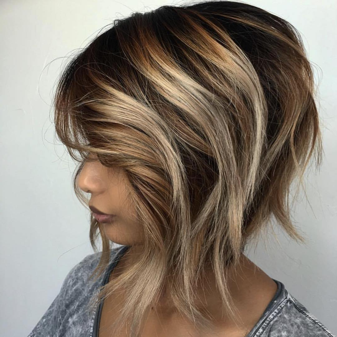 50 Most Flattering Hairstyles For Thick Hair – Hair Adviser Intended For Most Recent Textured Bronde Bob Hairstyles With Silver Balayage (View 9 of 20)