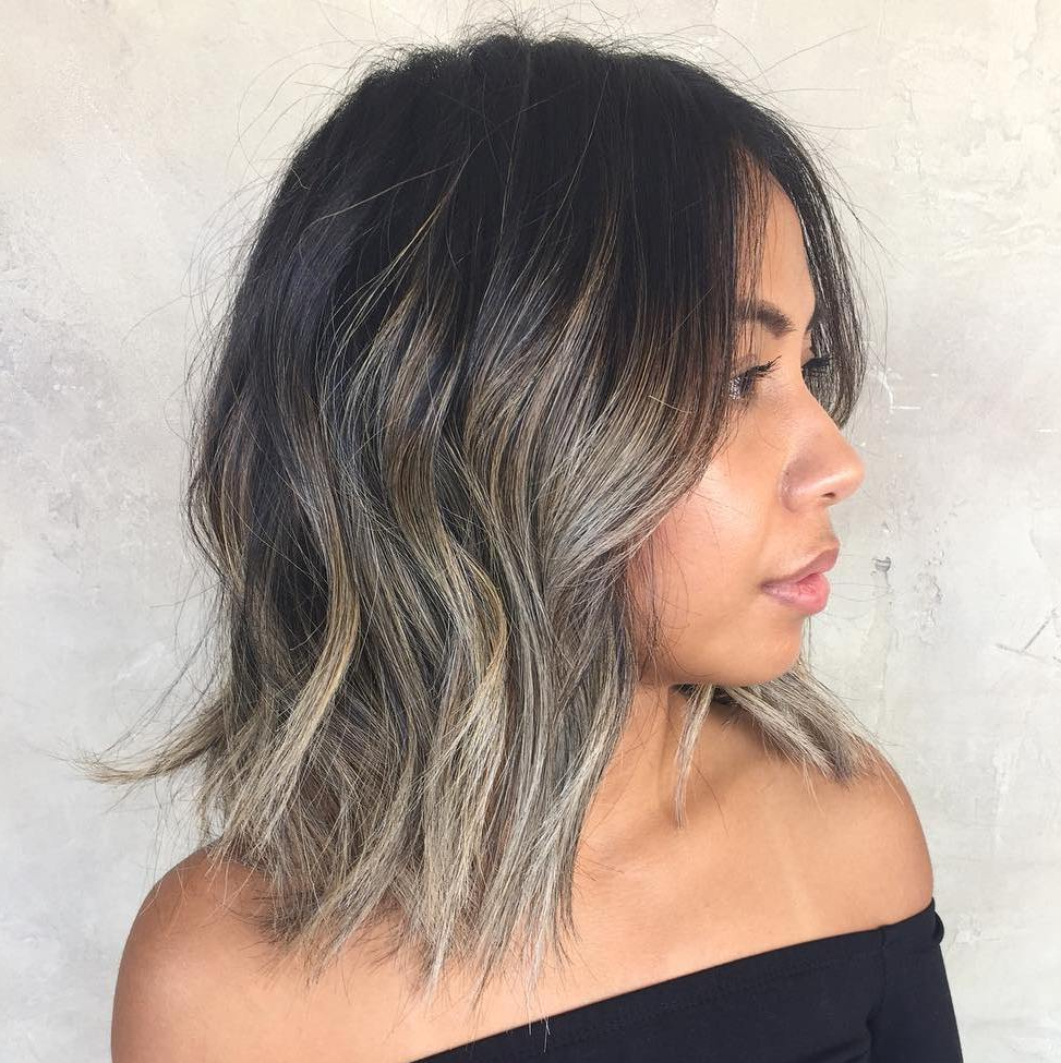 50 Most Flattering Hairstyles For Thick Hair – Hair Adviser With Regard To Newest Razored Shaggy Chocolate And Caramel Bob Hairstyles (View 4 of 20)