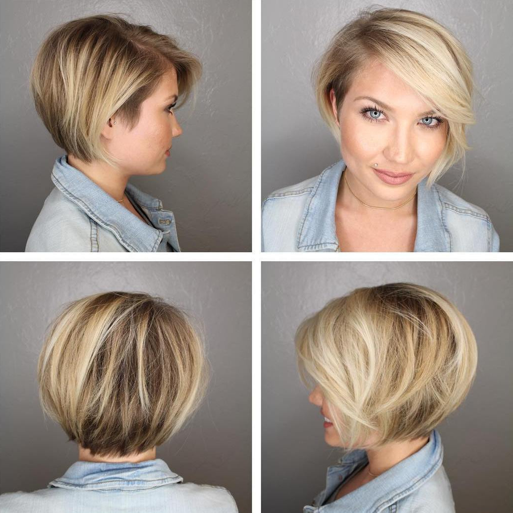 50 Screenshot Worthy Short Layered Hairstyles – Hair Adviser Regarding Bronde Bob Shag Haircuts With Short Back (View 10 of 20)