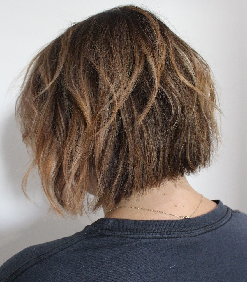 50 Screenshot Worthy Short Layered Hairstyles – Hair Adviser With Tapered Shaggy Chocolate Brown Bob Hairstyles (View 12 of 20)
