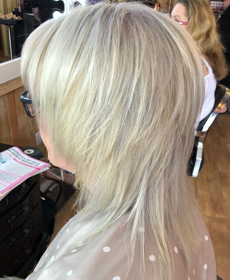 50 Super Cool Shaggy Hairstyles For Women Over 50 In Silver White Shaggy Haircuts (View 18 of 20)
