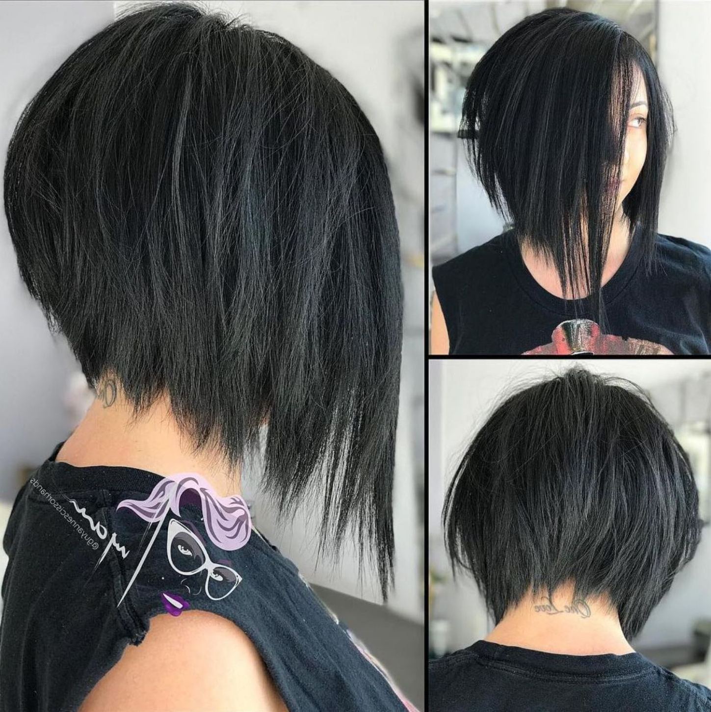 Featured Photo of Steeply Angled Razored Asymmetrical Bob Hairstyles