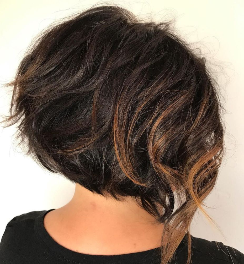50 Trendy Inverted Bob Haircuts In 2019 | Hair Thoughts Inside Inverted Caramel Bob Hairstyles With Wavy Layers (View 14 of 20)