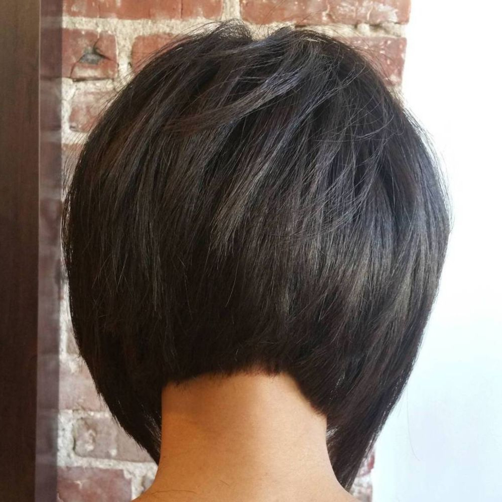 50 Trendy Inverted Bob Haircuts In 2019 | Inverted Bob Pertaining To Short Sliced Inverted Bob Hairstyles (View 9 of 20)