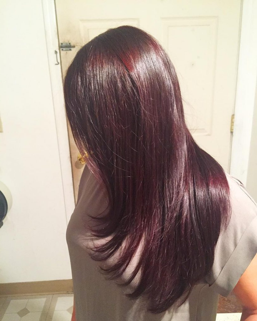 53 Gorgeous Long Layered Hairstyles – Prochronism For Popular Shiny Black Haircuts With Flicked Layers (View 4 of 20)