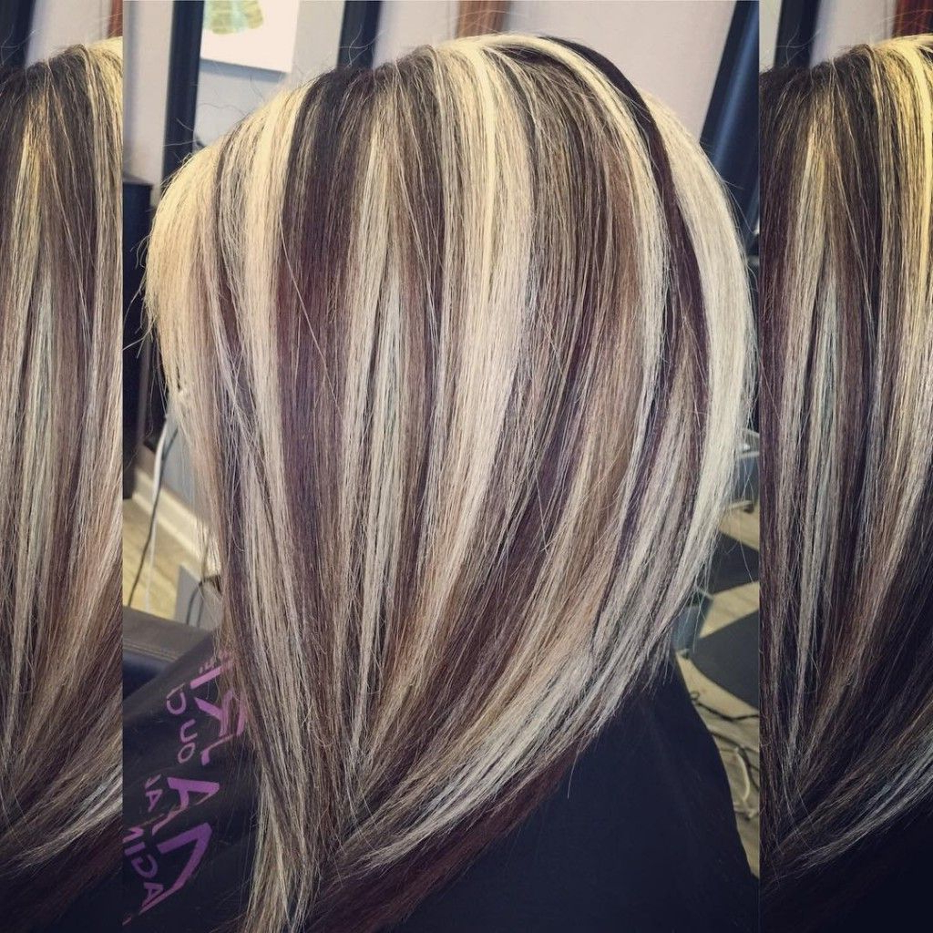 55 Fall Hair Color Ideas For Blonde, Brown And Auburn With Bob Hairstyles With Contrasting Highlights (View 5 of 20)