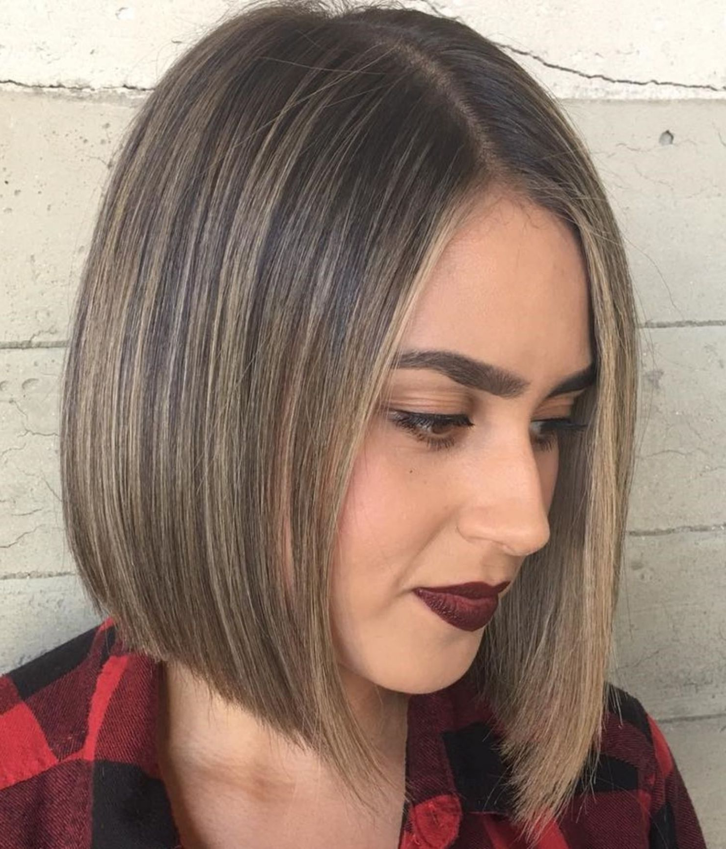 60 Beautiful And Convenient Medium Bob Hairstyles | Hair In In Sleek Blunt Brunette Bob Hairstyles (Gallery 1 of 20)