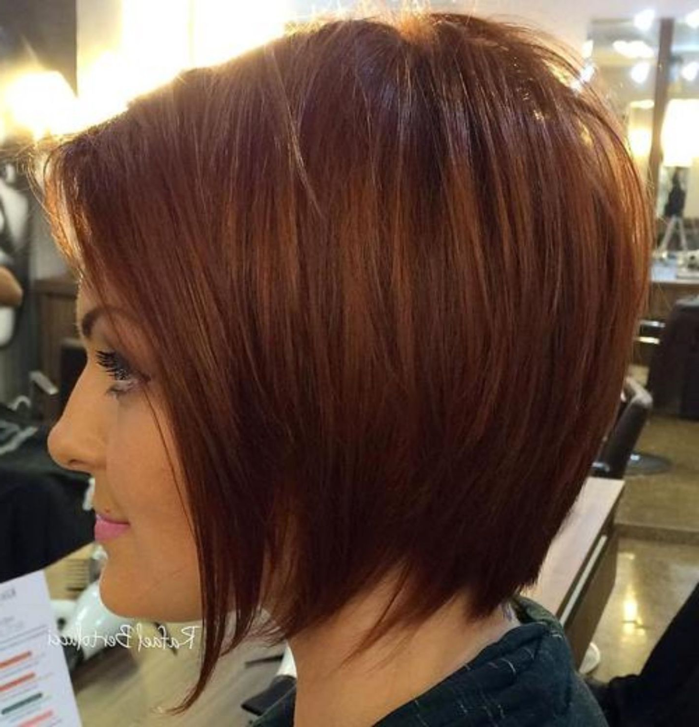 60 Beautiful And Convenient Medium Bob Hairstyles In 2019 With Tapered Shaggy Chocolate Brown Bob Hairstyles (View 10 of 20)