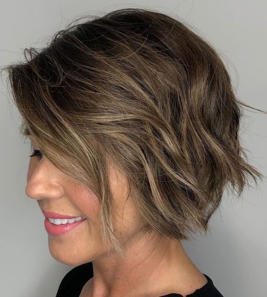 60 Best Short Bob Haircuts And Hairstyles For Women In 2019 Regarding Short Bob Hairstyles With Textured Waves (View 10 of 20)
