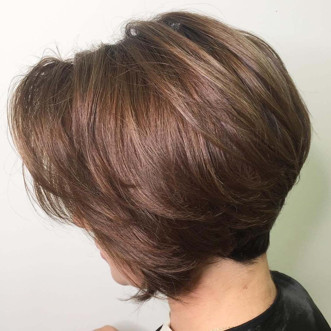 60 Best Short Bob Haircuts And Hairstyles For Women Pertaining To Short Chocolate Bob Hairstyles With Feathered Layers (View 3 of 20)