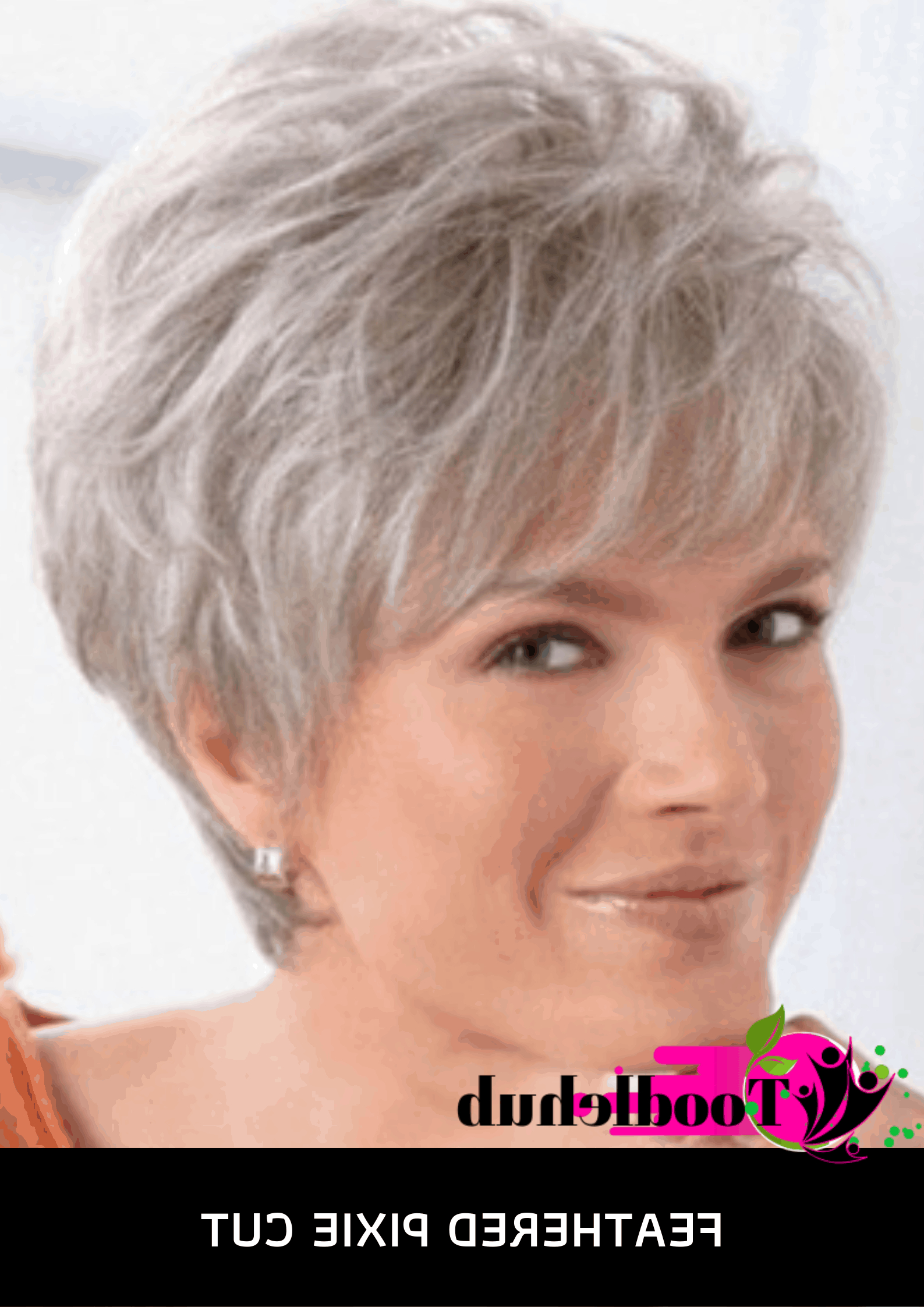 60 Best Short Hairstyles For Women Over 50 In 2019 – Ove 50 Inside Two Tone Feathered Pixie Haircuts (View 10 of 20)