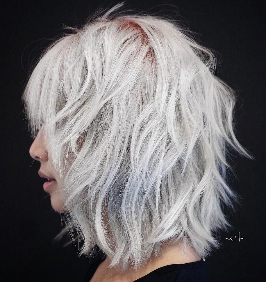 Featured Photo of Gorgeous Wavy White Shag Haircuts