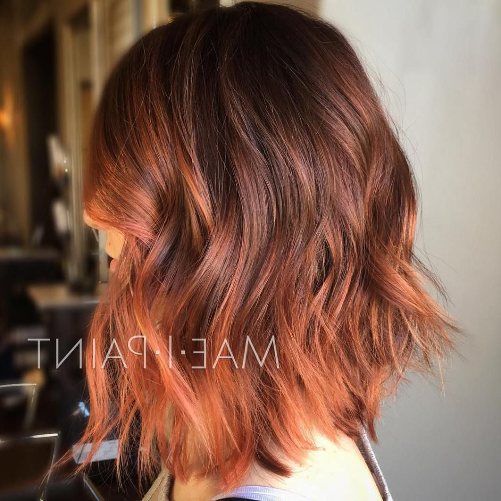 60 Best Variations Of A Medium Shag Haircut For Your For Well Liked Balayage Hairstyles For Shoulder Length Shag (View 3 of 20)
