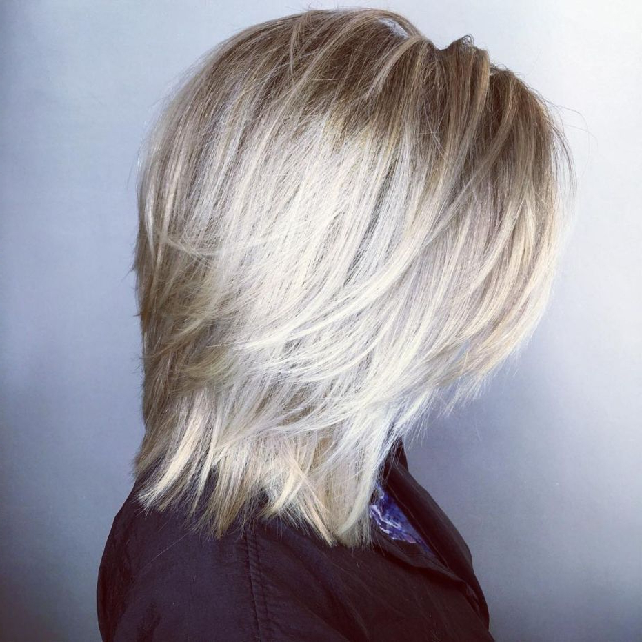 60 Best Variations Of A Medium Shag Haircut For Your In Most Popular Textured Bronde Bob Hairstyles With Silver Balayage (View 1 of 20)