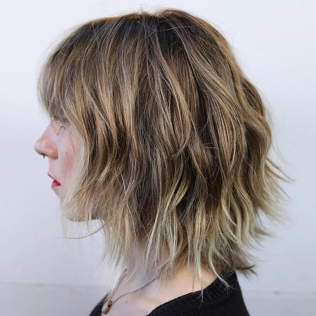 60 Best Variations Of A Medium Shag Haircut For Your In Razored Shaggy Bob Hairstyles With Bangs (View 6 of 20)