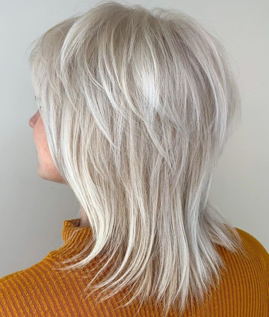 60 Best Variations Of A Medium Shag Haircut For Your In Silver White Shaggy Haircuts (Gallery 1 of 20)