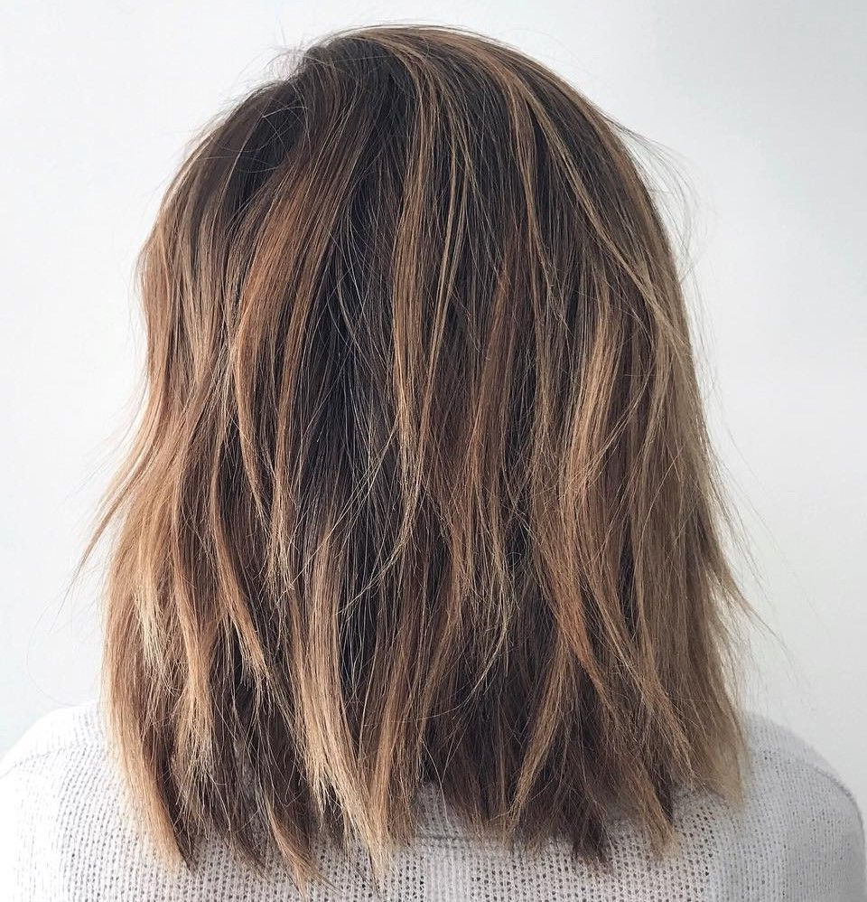60 Best Variations Of A Medium Shag Haircut For Your Inside 2018 Shiny Brunette Shag Haircuts For Long Hair (View 7 of 20)