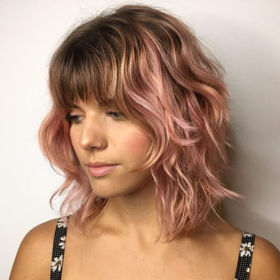60 Best Variations Of A Medium Shag Haircut For Your Inside Pink Shaggy Haircuts (View 3 of 20)