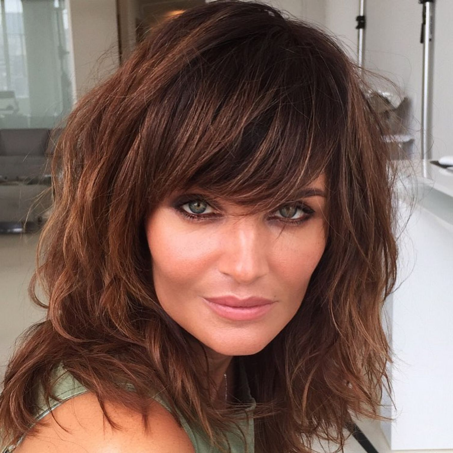 60 Best Variations Of A Medium Shag Haircut For Your Inside Trendy Dramatic Reddish Brown Shag Haircuts (Gallery 1 of 20)