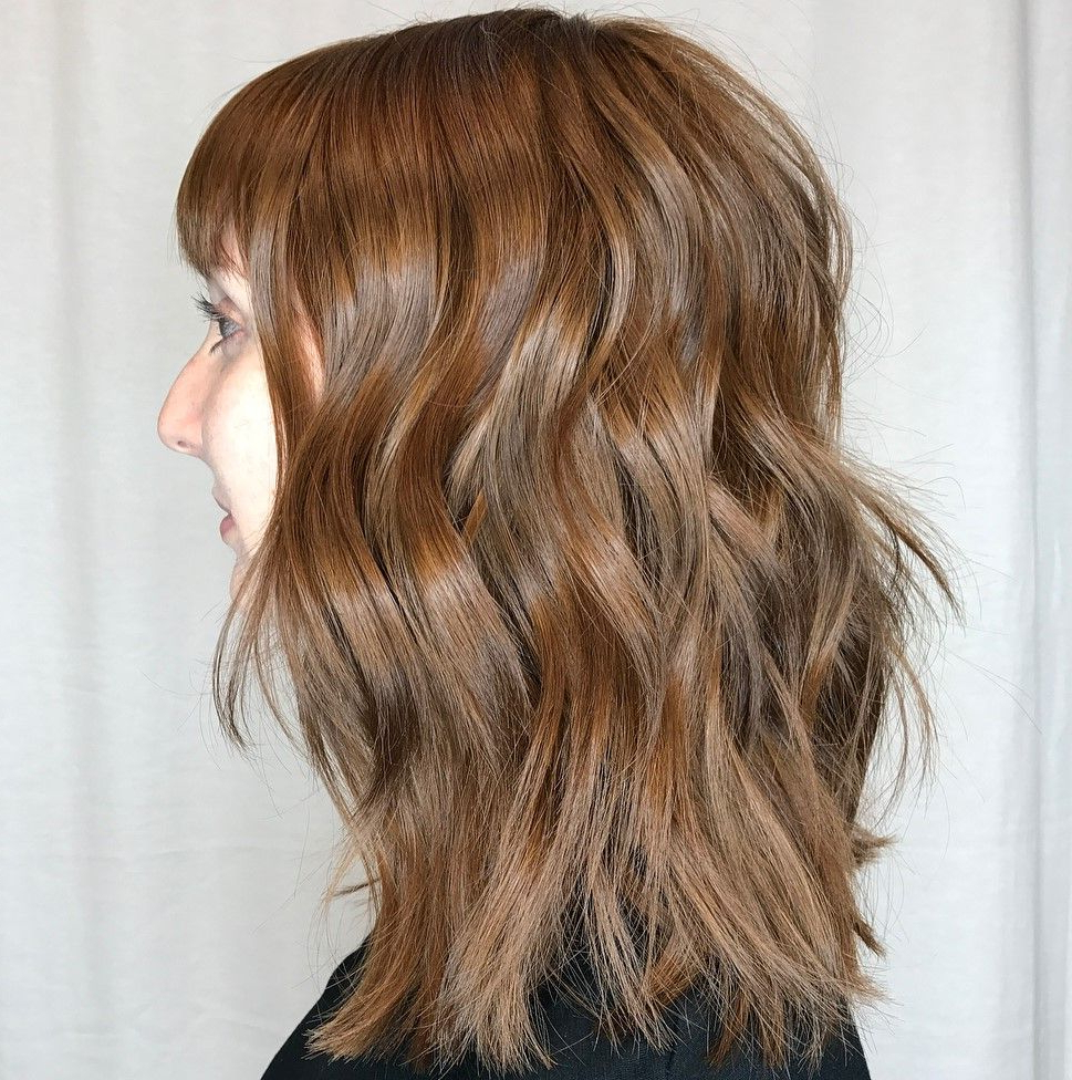 60 Best Variations Of A Medium Shag Haircut For Your Intended For Most Up To Date Shiny Caramel Layers Long Shag Haircuts (Gallery 3 of 20)
