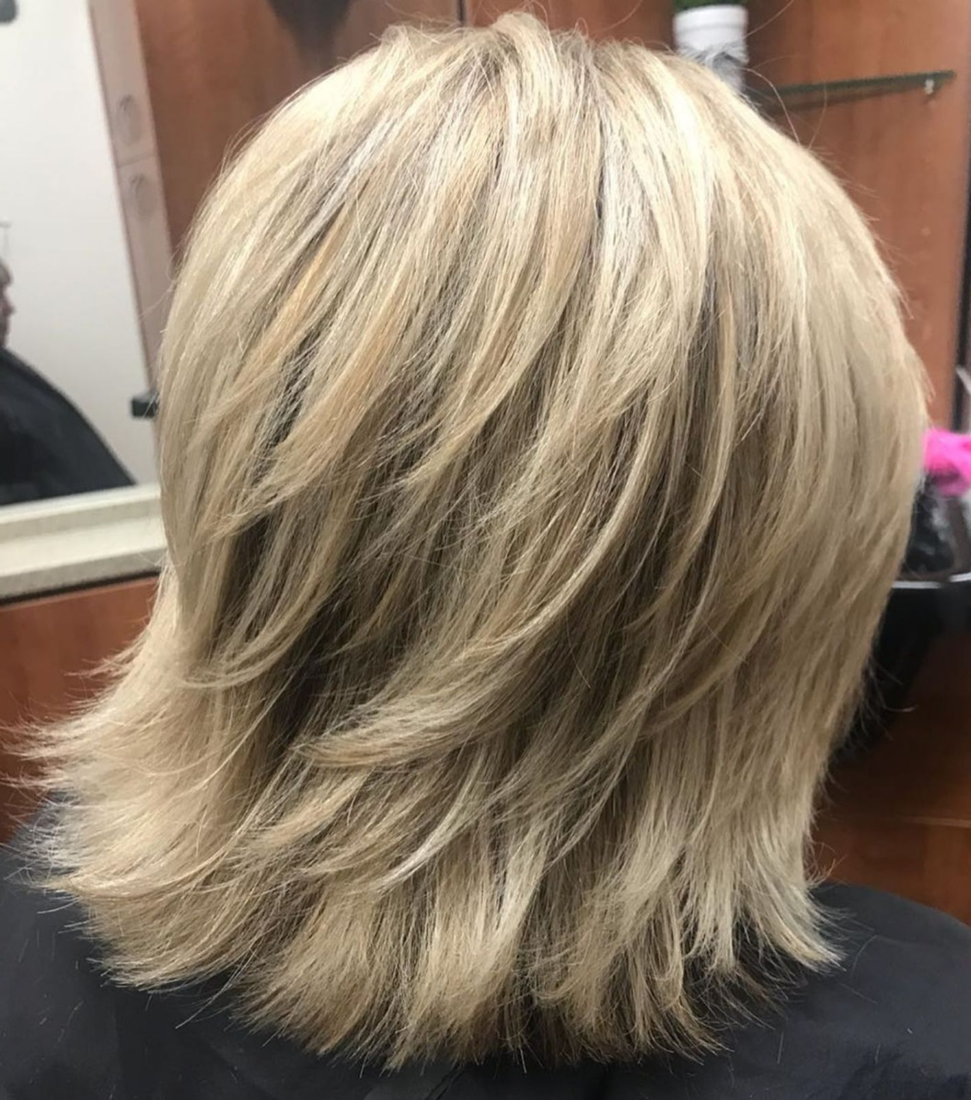 60 Best Variations Of A Medium Shag Haircut For Your Intended For Well Known Thick Feathered Blonde Lob Hairstyles (Gallery 1 of 20)