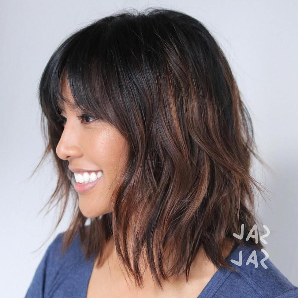 60 Best Variations Of A Medium Shag Haircut For Your Regarding Most Up To Date Wispy Brunette Shag Hairstyles (Gallery 3 of 20)