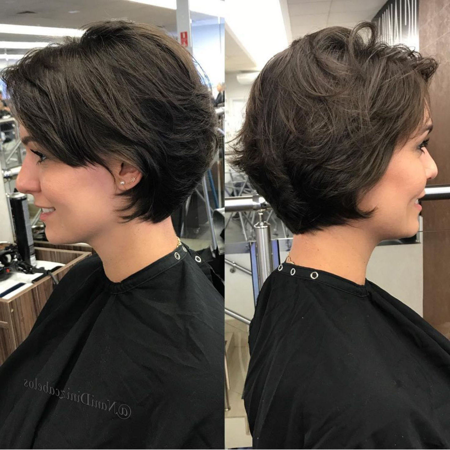 60 Classy Short Haircuts And Hairstyles For Thick Hair For Short Feathered Hairstyles (View 1 of 20)