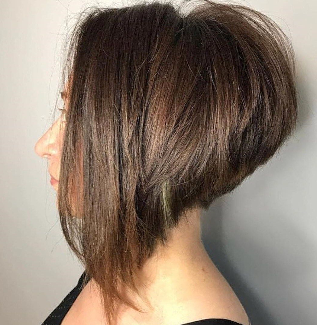 60 Classy Short Haircuts And Hairstyles For Thick Hair In Pertaining To Steeply Angled Razored Asymmetrical Bob Hairstyles (View 8 of 20)