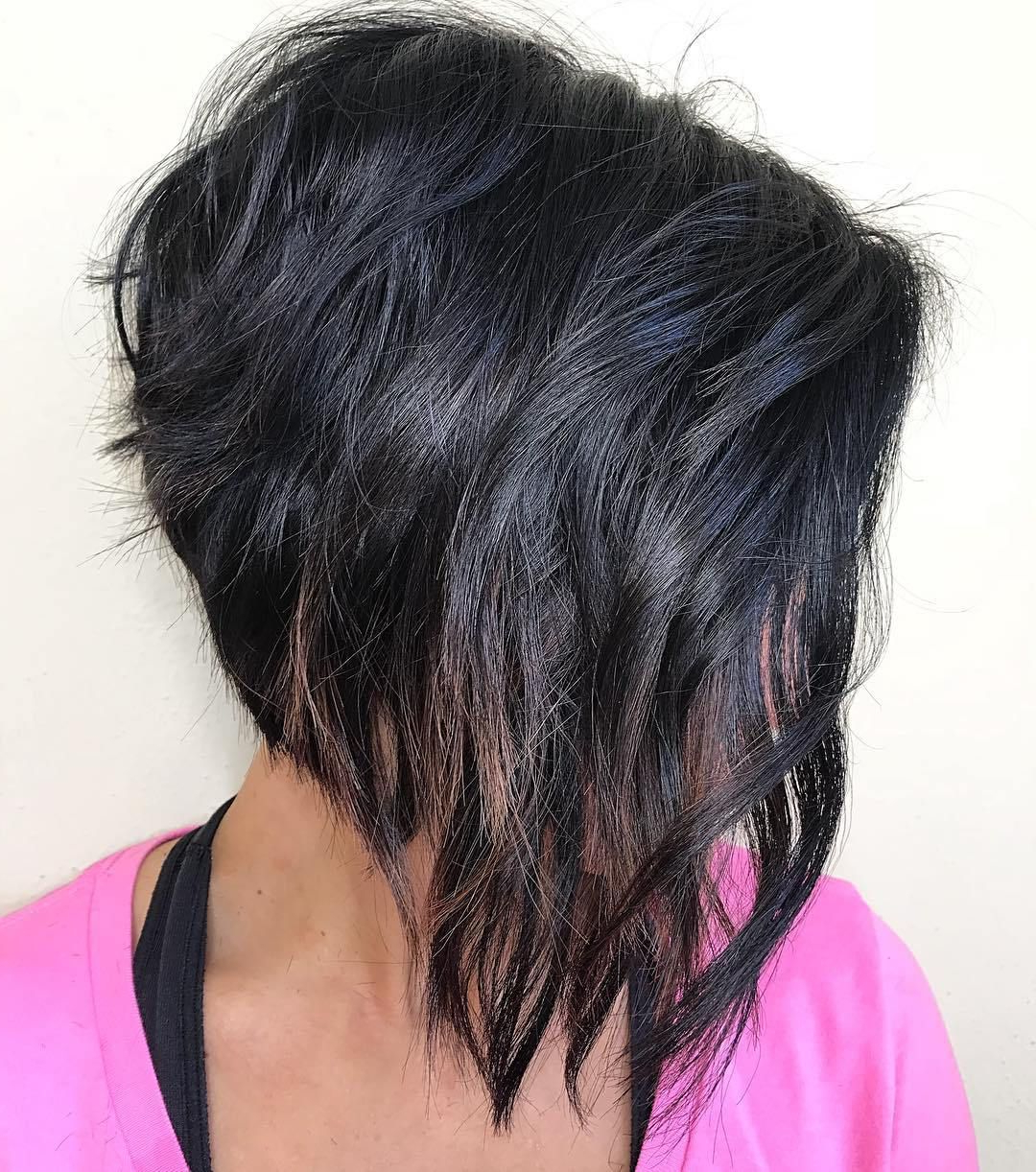 60 Classy Short Haircuts And Hairstyles For Thick Hair In With Regard To Steeply Angled Razored Asymmetrical Bob Hairstyles (Gallery 2 of 20)