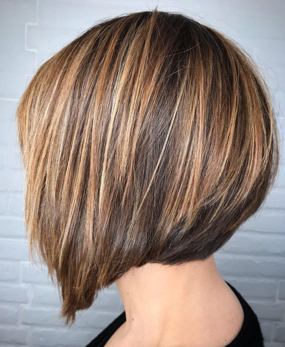 60 Classy Short Haircuts And Hairstyles For Thick Hair With Short Sliced Inverted Bob Hairstyles (Gallery 3 of 20)
