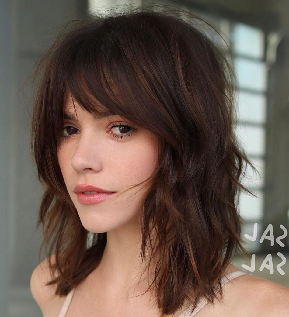 Featured Photo of Shaggy Chestnut Medium Length Hairstyles