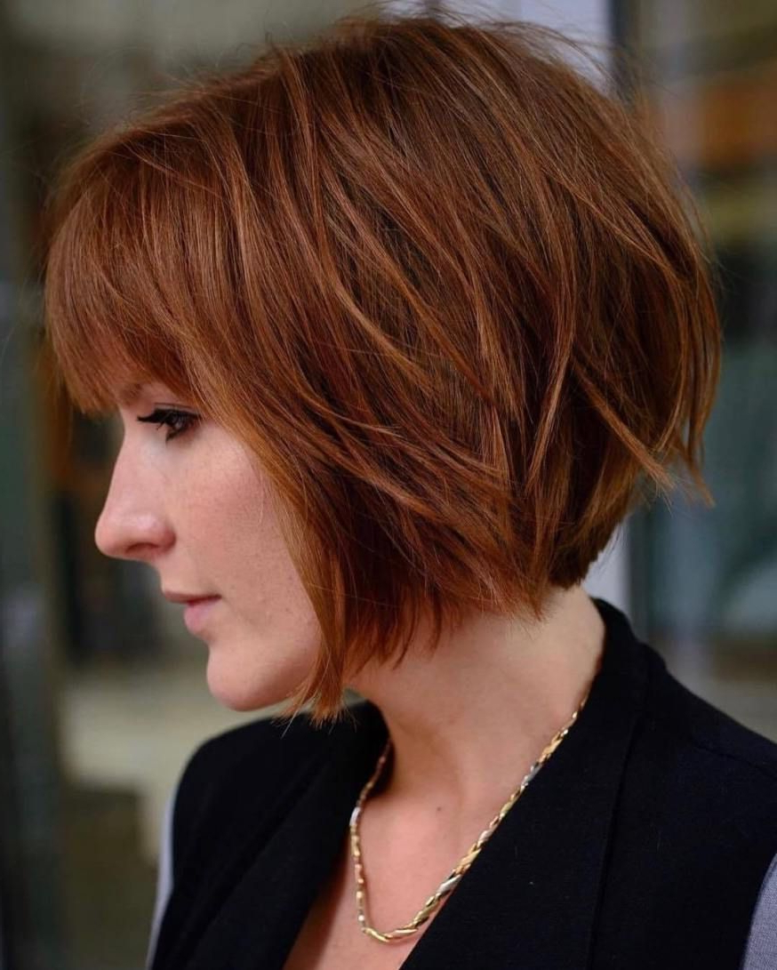 60 Layered Bob Styles: Modern Haircuts With Layers For Any Inside Newest Marvelous Mauve Shaggy Bob Hairstyles (View 8 of 20)