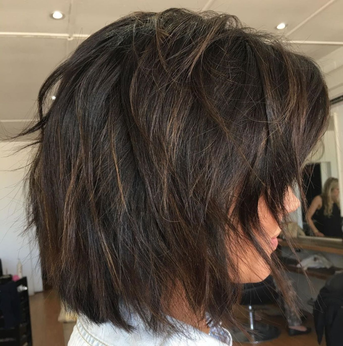 60 Layered Bob Styles: Modern Haircuts With Layers For Any Pertaining To Short Shaggy Brunette Bob Hairstyles (View 5 of 20)