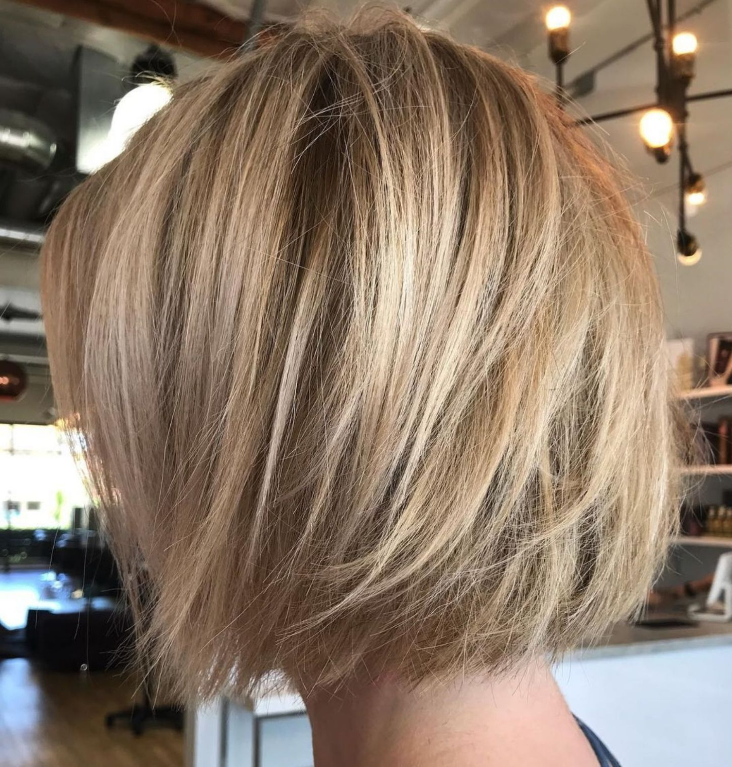 60 Layered Bob Styles: Modern Haircuts With Layers For Any Regarding Straight Wispy Jaw Length Bob Hairstyles (Gallery 8 of 20)