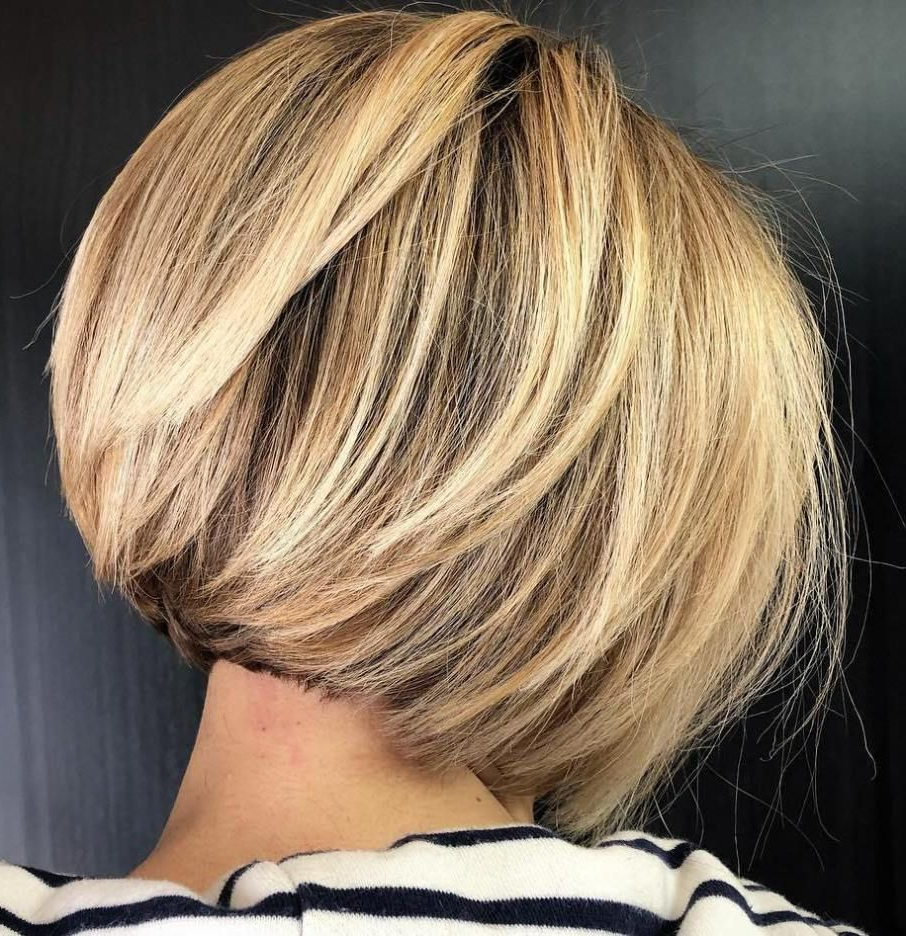 60 Layered Bob Styles: Modern Haircuts With Layers For Any Regarding Trendy Lovely Golden Blonde Haircuts With Swoopy Layers (View 7 of 20)