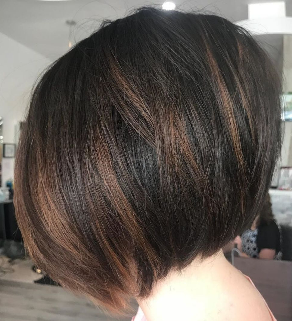 60 Layered Bob Styles: Modern Haircuts With Layers For Any Regarding Well Known Black And Brown Choppy Bob Hairstyles (View 4 of 20)