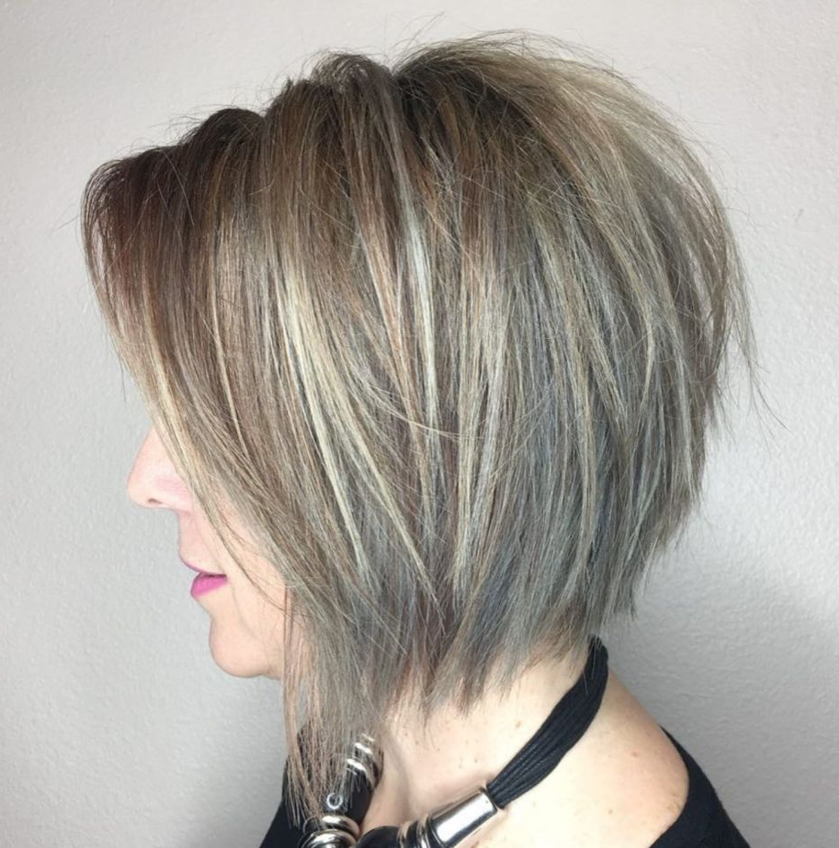 60 Layered Bob Styles: Modern Haircuts With Layers For Any Throughout Choppy Ash Blonde Bob Hairstyles (View 6 of 20)