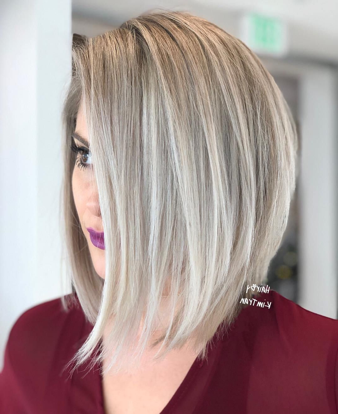 60 Layered Bob Styles: Modern Haircuts With Layers For Any With Current Razored Blonde Bob Haircuts With Bangs (View 7 of 20)
