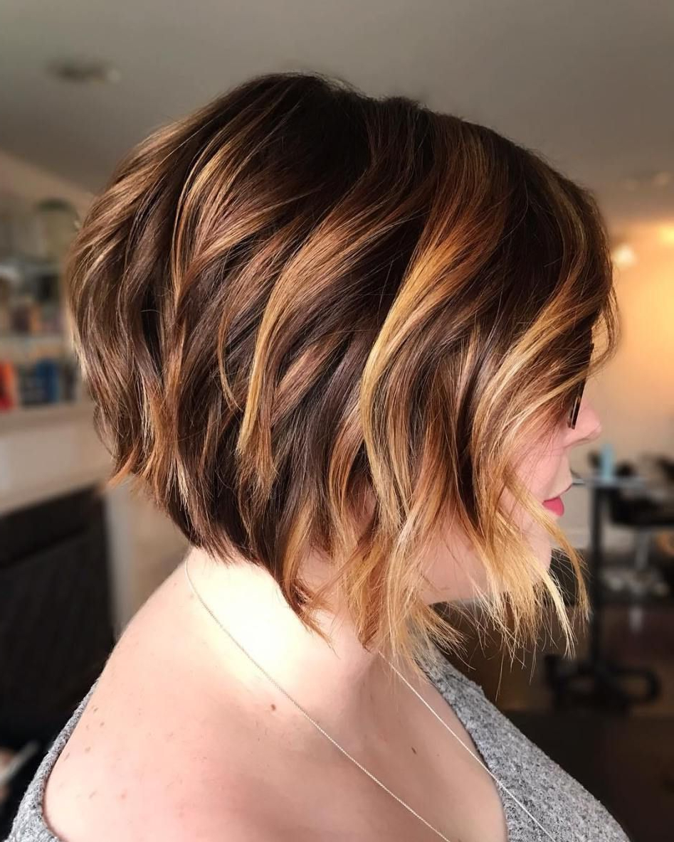 60 Layered Bob Styles: Modern Haircuts With Layers For Any With Regard To Piece Y Golden Bob Hairstyles With Silver Highlights (View 2 of 20)