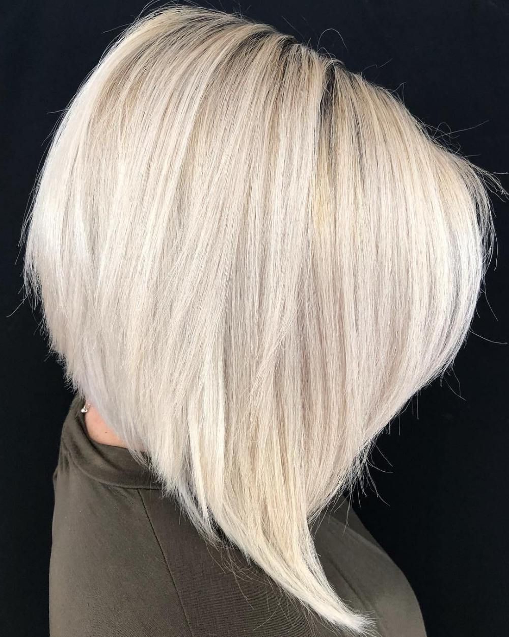 60 Layered Bob Styles: Modern Haircuts With Layers For Any With Steeply Angled Razored Asymmetrical Bob Hairstyles (Gallery 13 of 20)