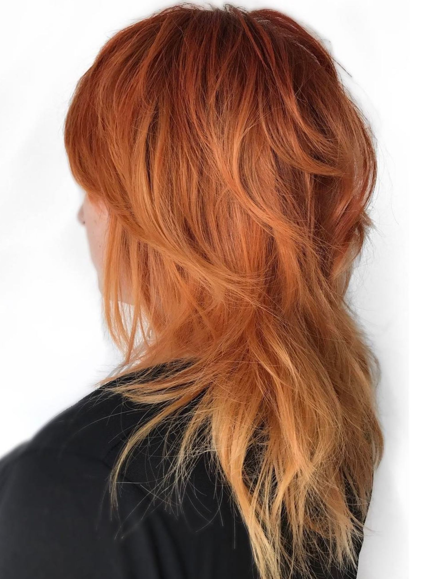 Featured Photo of Jagged Red Ombre Hairstyles