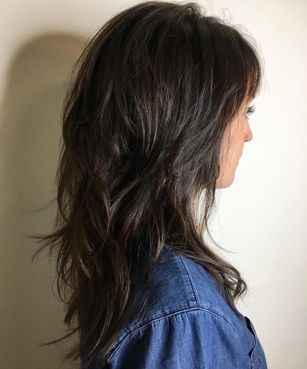 60 Lovely Long Shag Haircuts For Effortless Stylish Looks Pertaining To Most Recent Long Wispy Brunette Shag Haircuts (View 5 of 20)