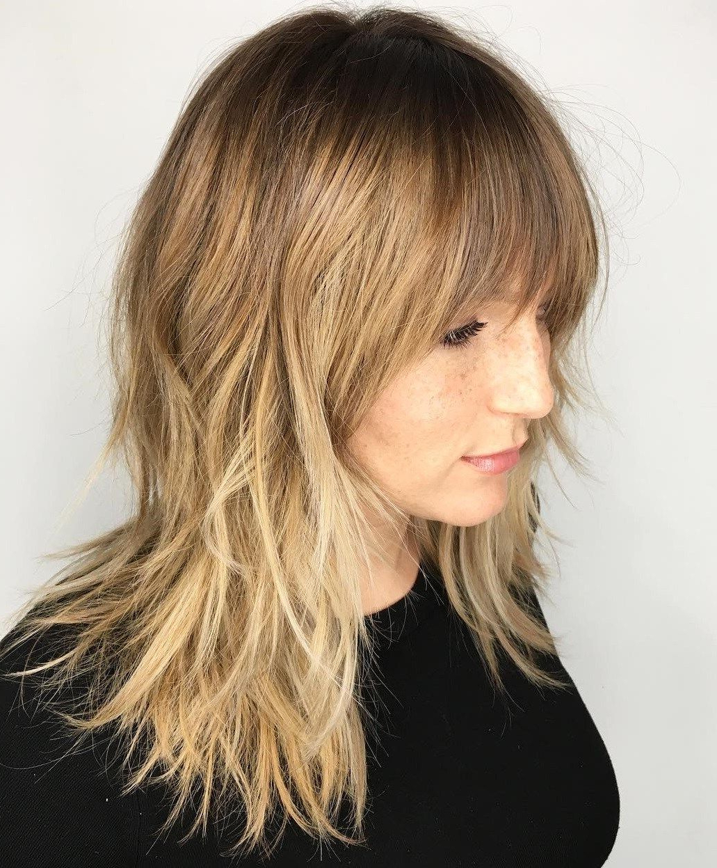 60 Lovely Long Shag Haircuts For Effortless Stylish Looks Pertaining To Well Known Golden Bronde Razored Shag Haircuts For Long Hair (View 3 of 20)